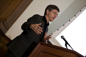 Jeff Sachs speaking at ICCS. B. Kahn/IRI