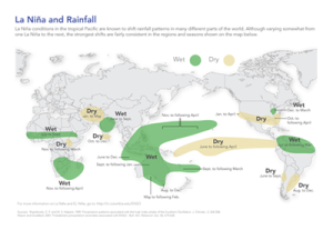 La Niña and Rainfall. For high res, click the image.