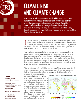 Climate Risk and Climate Change