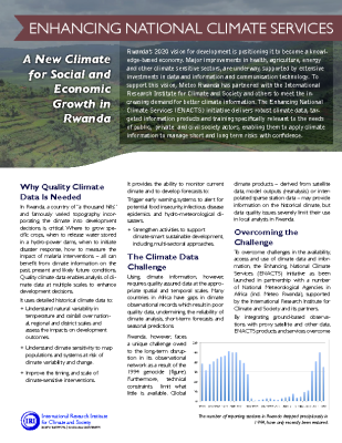 Enhancing National Climate Services – A New Climate for Social and Economic Growth in Rwanda