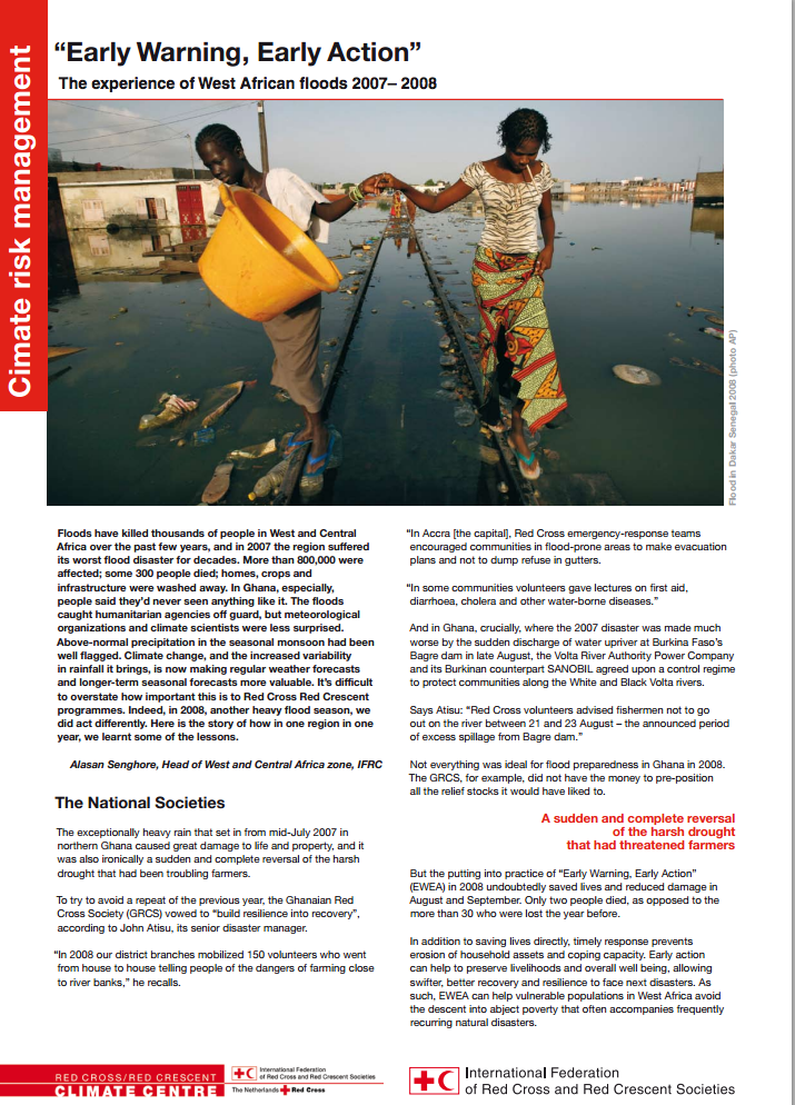 Early Warning, Early Action: The of West African Floods 2007-2008