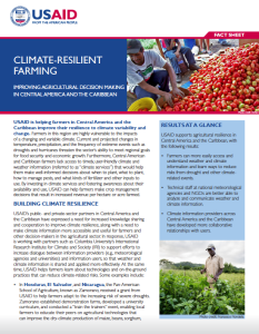 Improving agricultural decision making in Central America and the Caribbean.