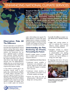 Fact Sheet: Enhancing National Climate Services