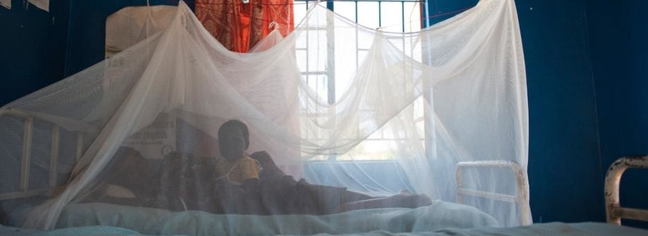 A mother and child rest under an insecticide treated bed net to help combat malaria in the Chongwe District, Zambia on 3/26/09. *NOT RELEASED. Gates Foundation