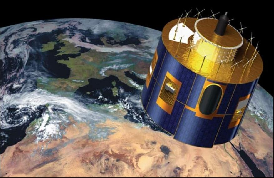 Artist's rendition of the MeteoSat-8 satellite (image credit: EUMETSAT)