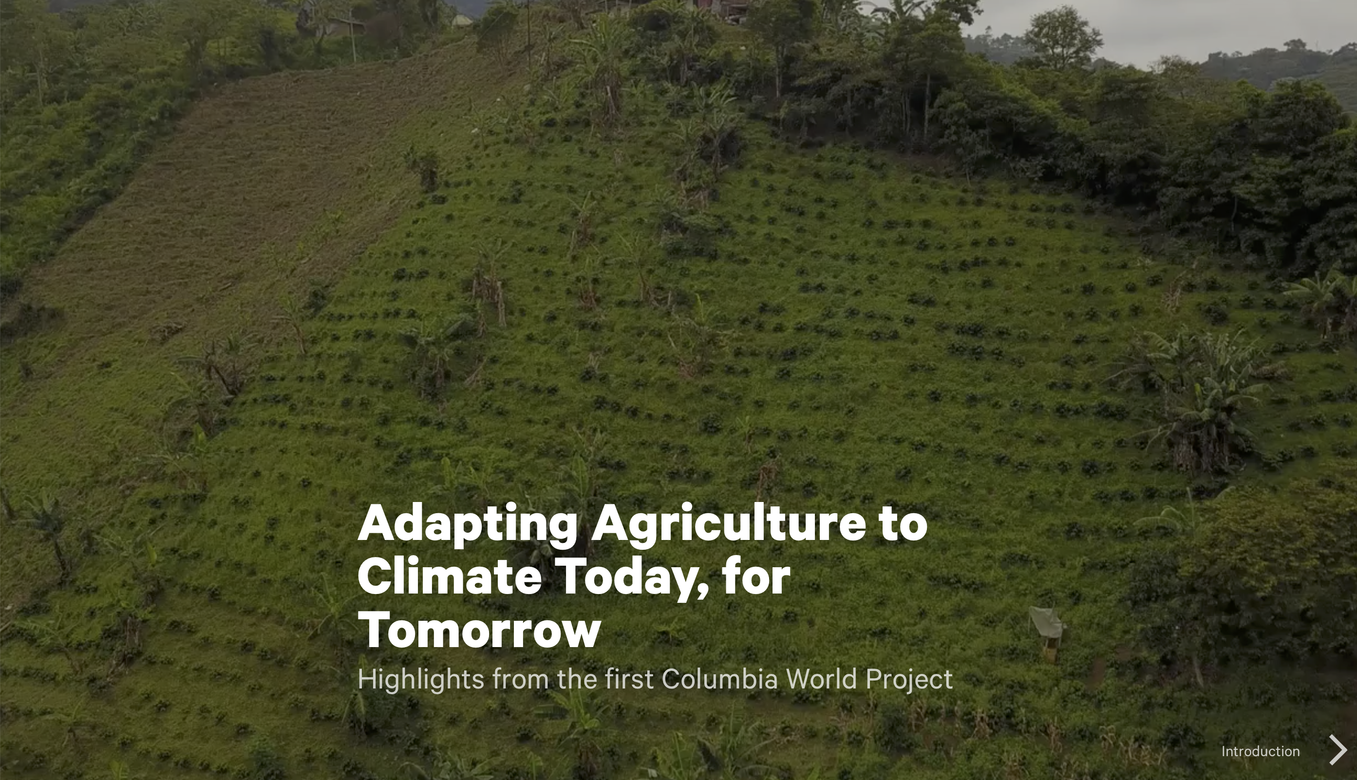 agriculture investments columbia